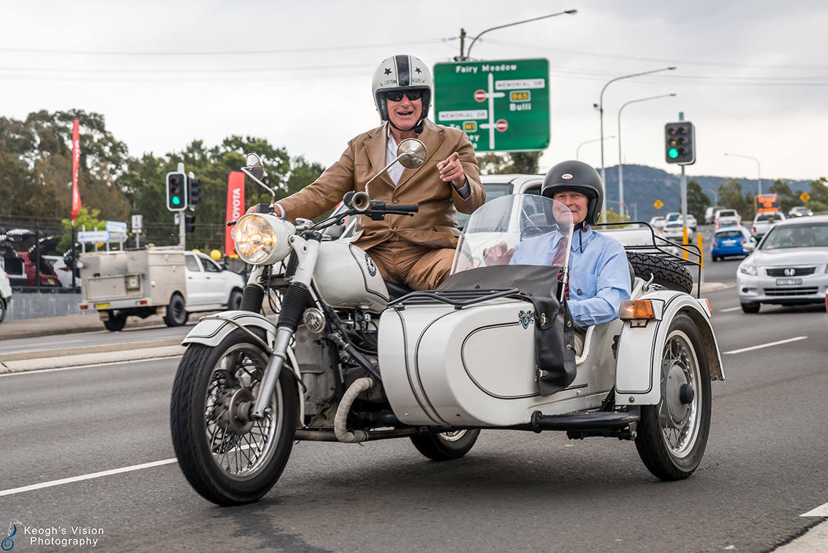 Imagine riding this sidecar in Illawarra Convoy