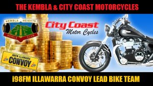 The Kembla & City Coast Motorcyles Lead Bike Team
