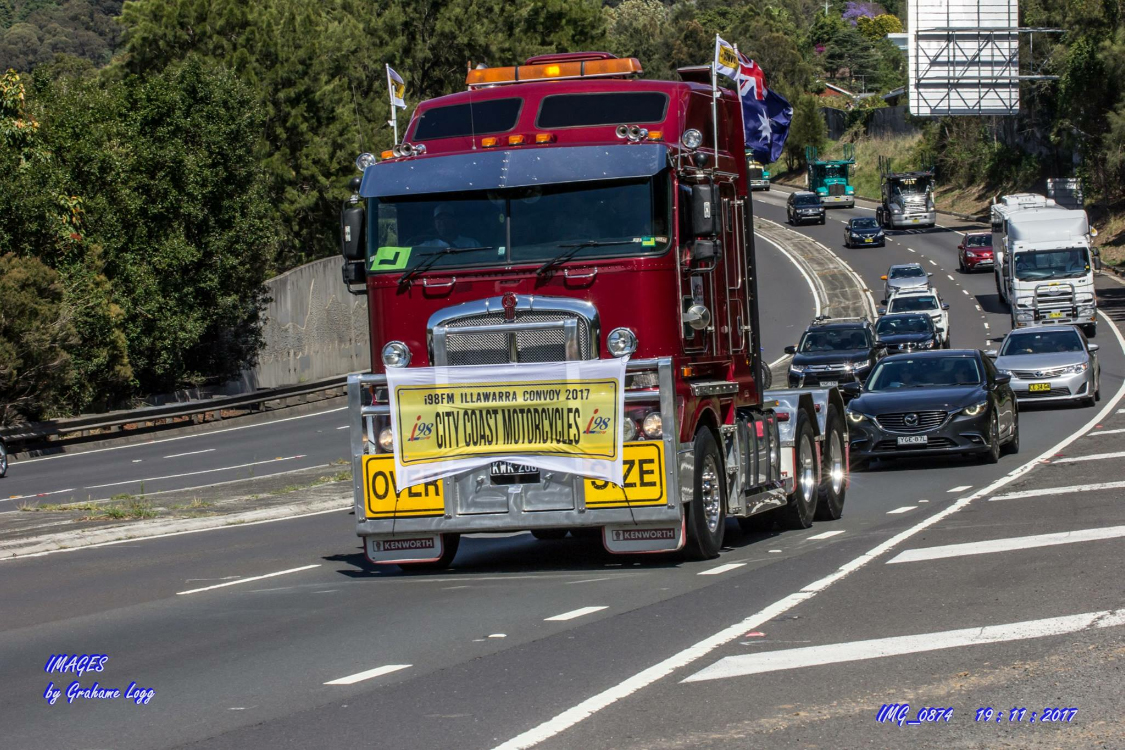City Coast Motorcycles Illawarra Convoy. Image by Grahame Logg