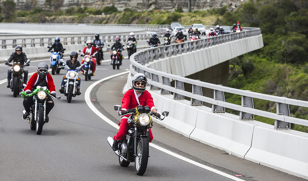 City Coast Motorcycles presents The Litas Wollongong Santa Ride