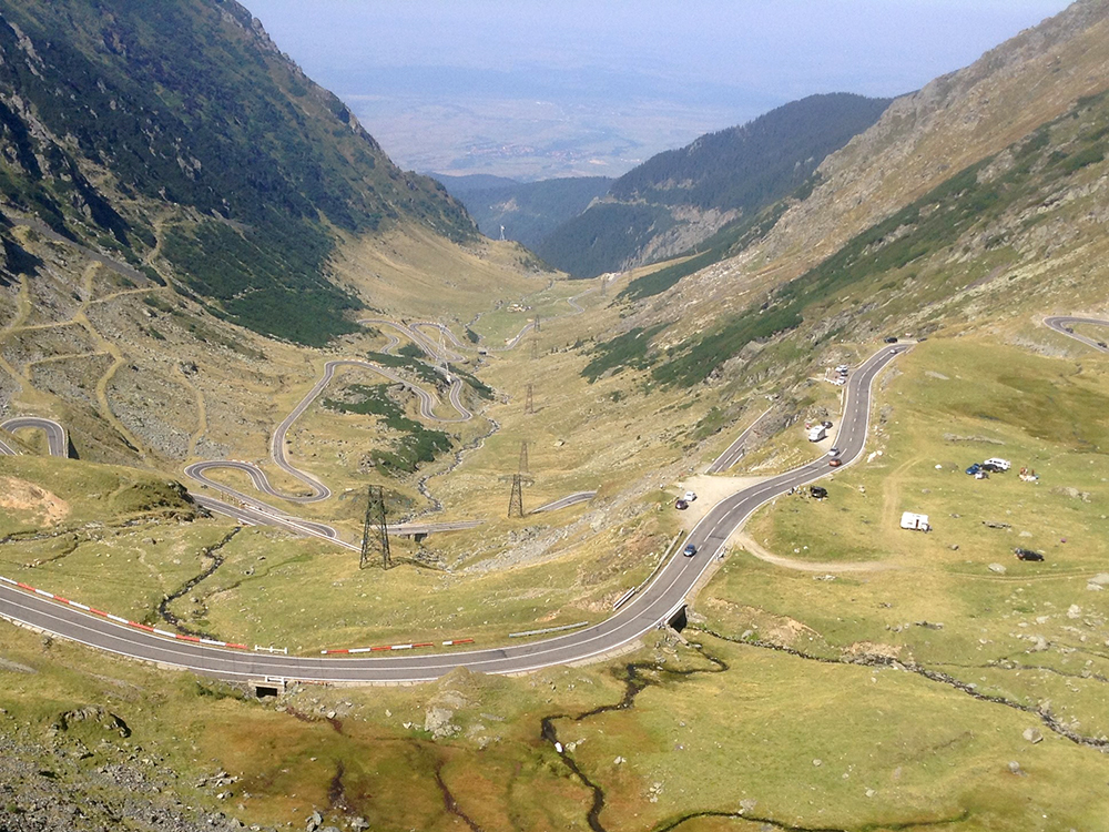 Geoff rides in Romania