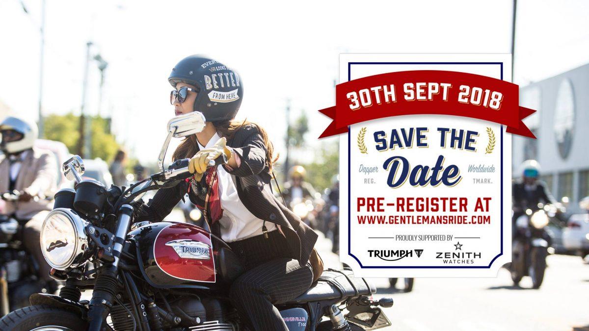 Pre-register Distinguished Gentleman's Ride 2018