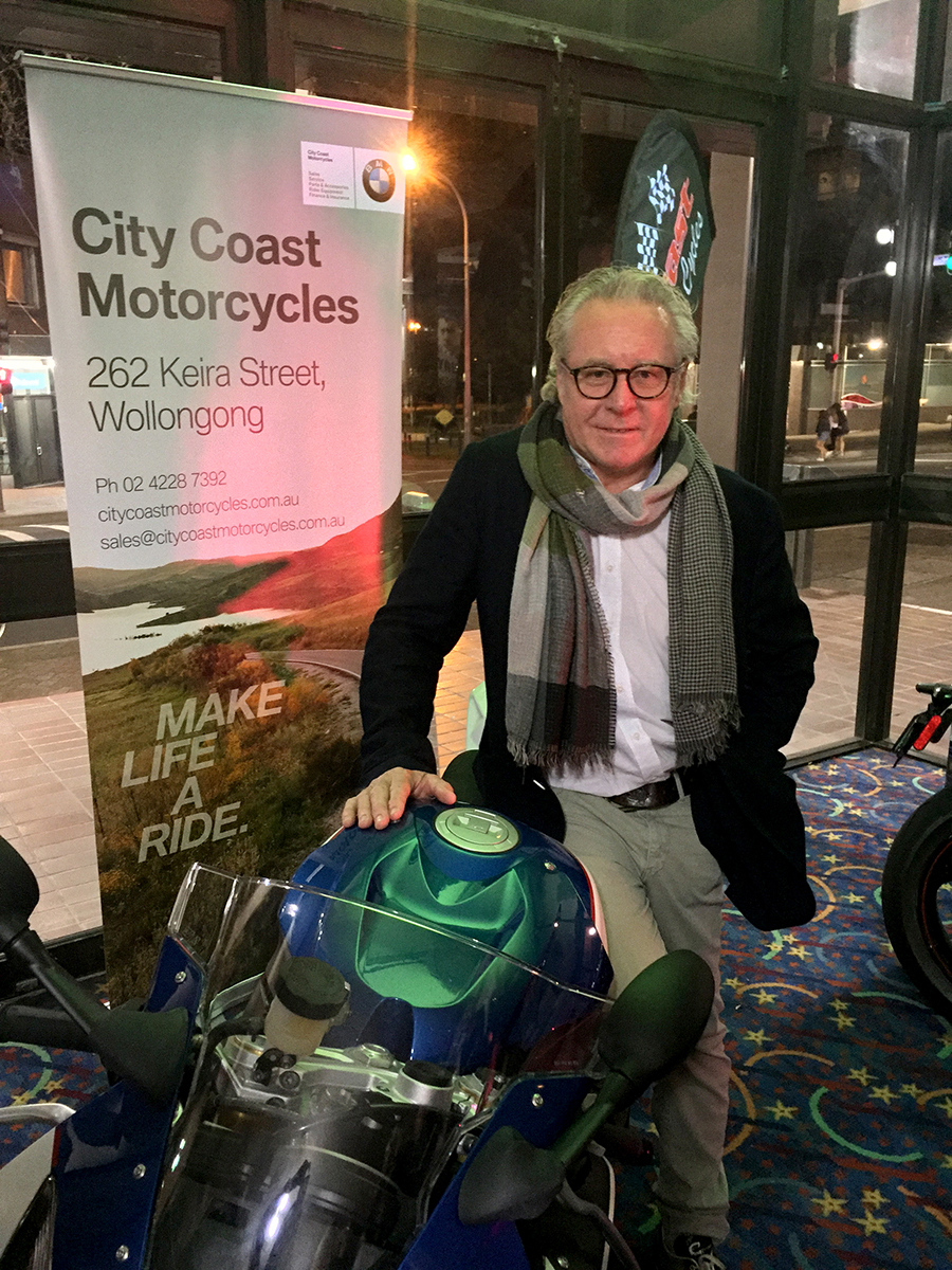 Wayne Gardner at the special advance screening of WAYNE held in Wollongong on August 7.