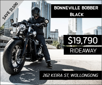 Bobber Black on sale at City Coast Motorcycles