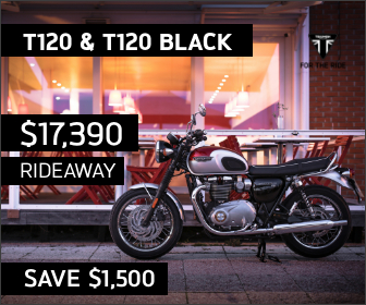 T120 on sale at City Coast Motorcycles