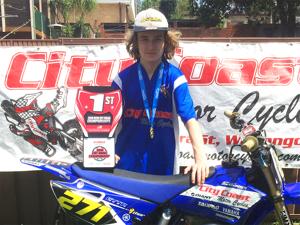 Mackenzie Johnson MX Team City Coast Motorcycles