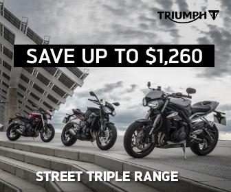 Street Triple on Sale at City Coast Motorcycles