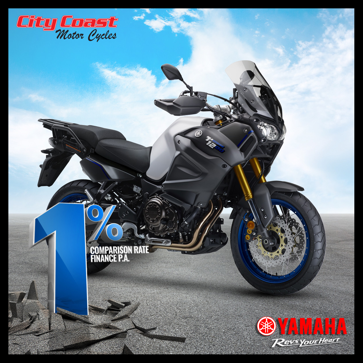 One percent motorcycle finance