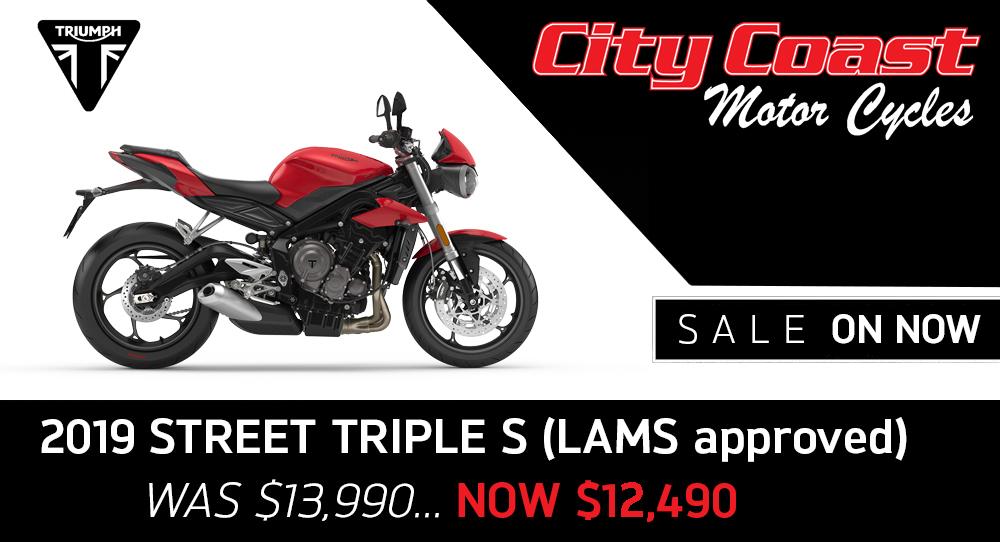 2019 Triumph street triple lams on sale