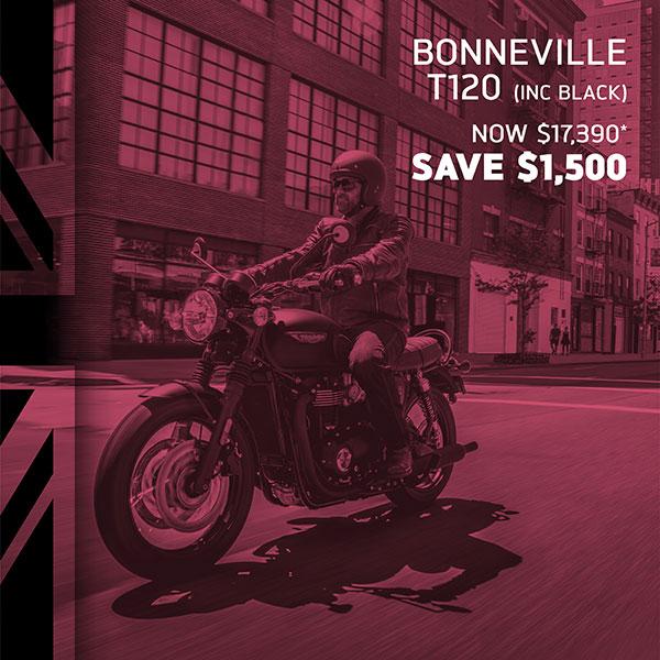 Triumph Bonneville T120 on sale