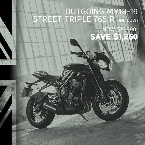 Triumph Street Triple R on sale