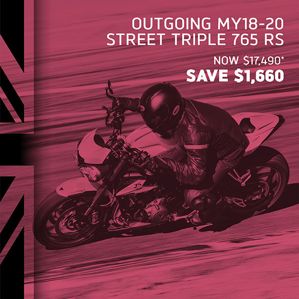 Triumph Street Triple 765 RS on sale