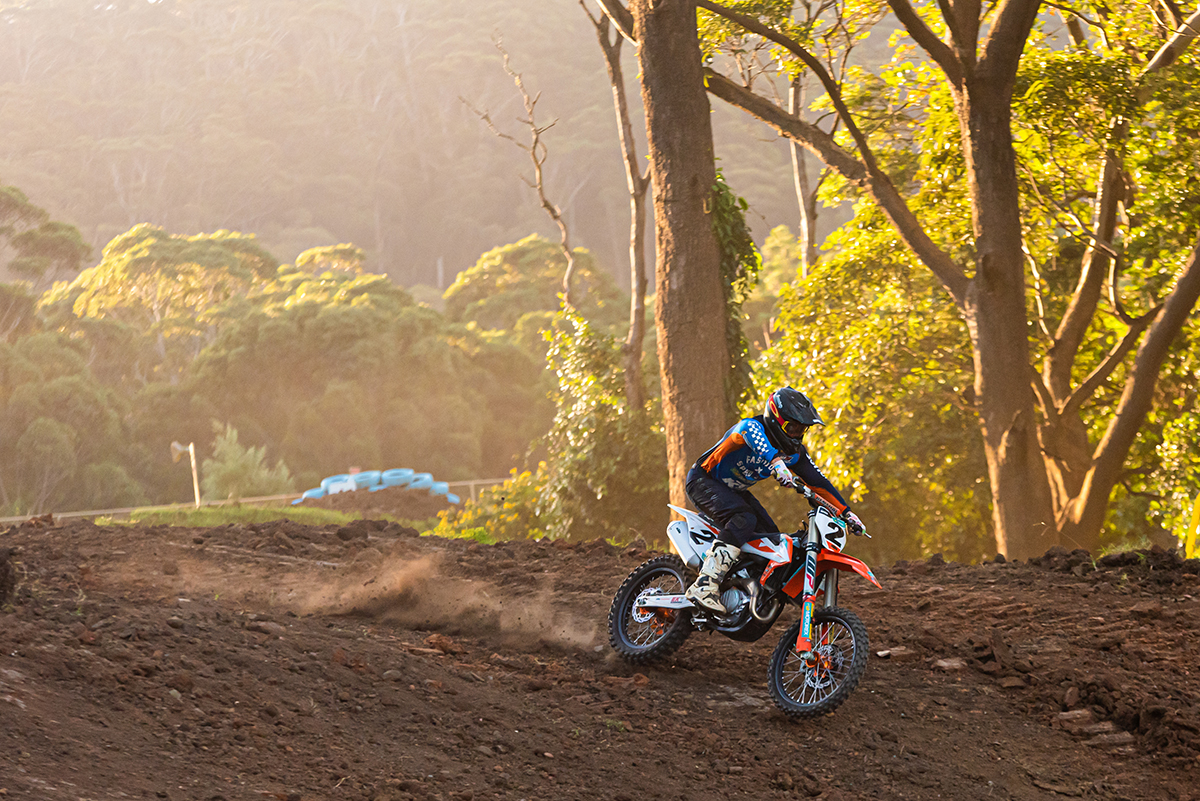 Jay Marmont testing the upgraded tracks at Wollongong Motorcycle Club