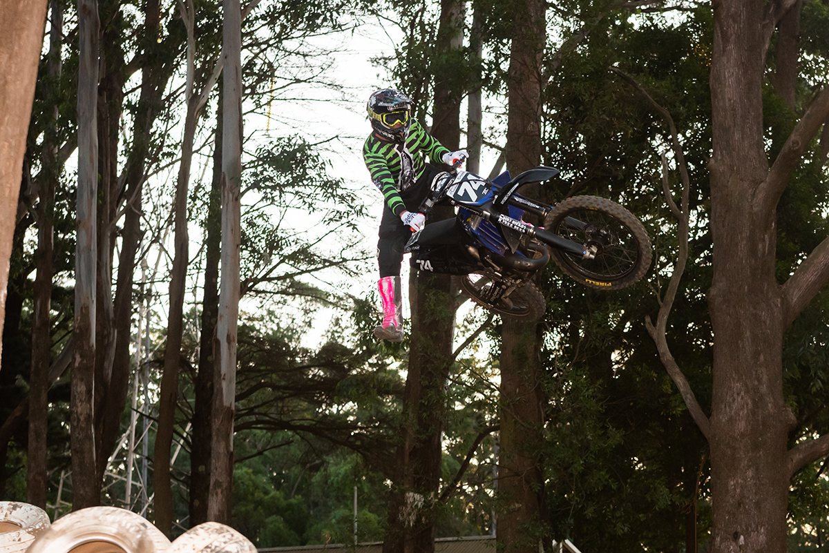 Bushy testing the upgraded track at Wollongong Motorcycle Club