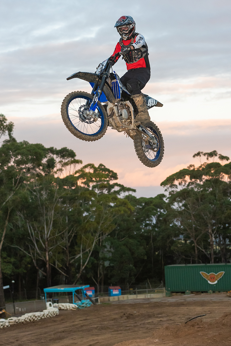 Tim trying experiencing the upgraded tracks at Wollongong Motorcycle Club.