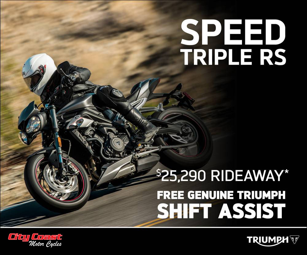 Speed Triple RS Special Offer at City Coast Motorcycles