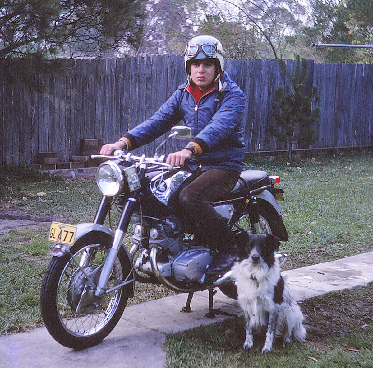 Geoff with his first motorcycle