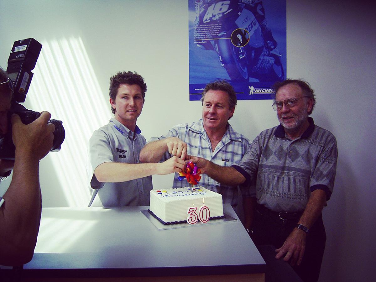 Tim, Wayne Gardner and Geoff