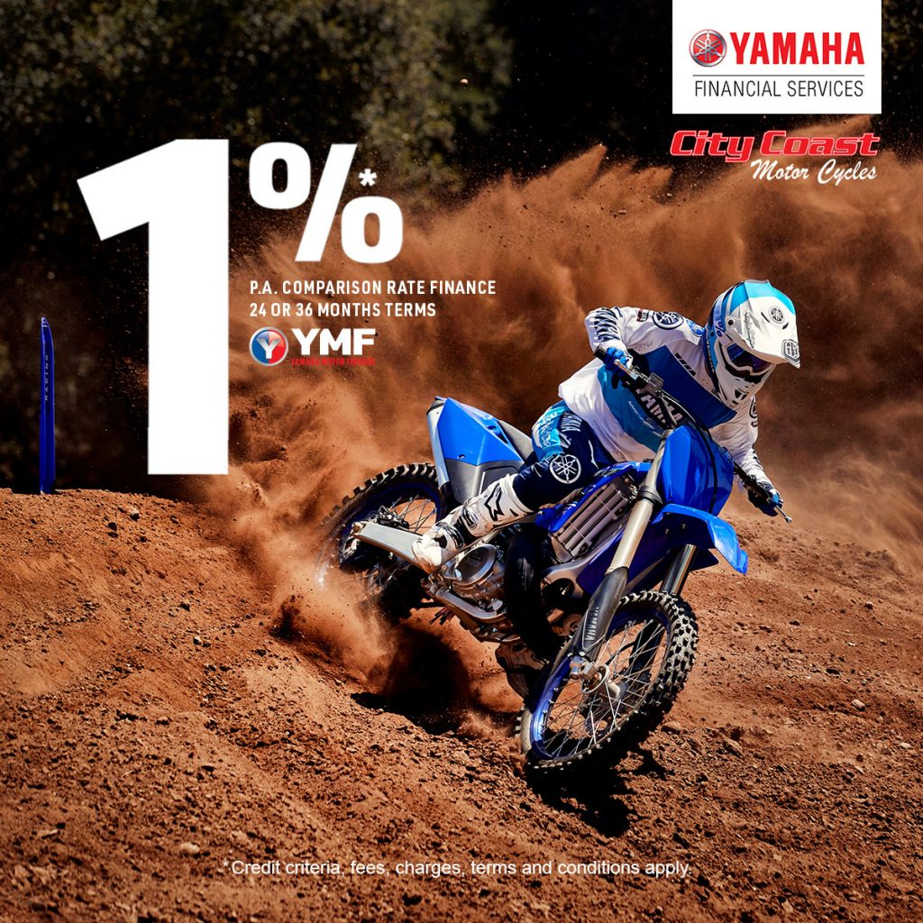 1 percent comparison rate YMF on YZ250
