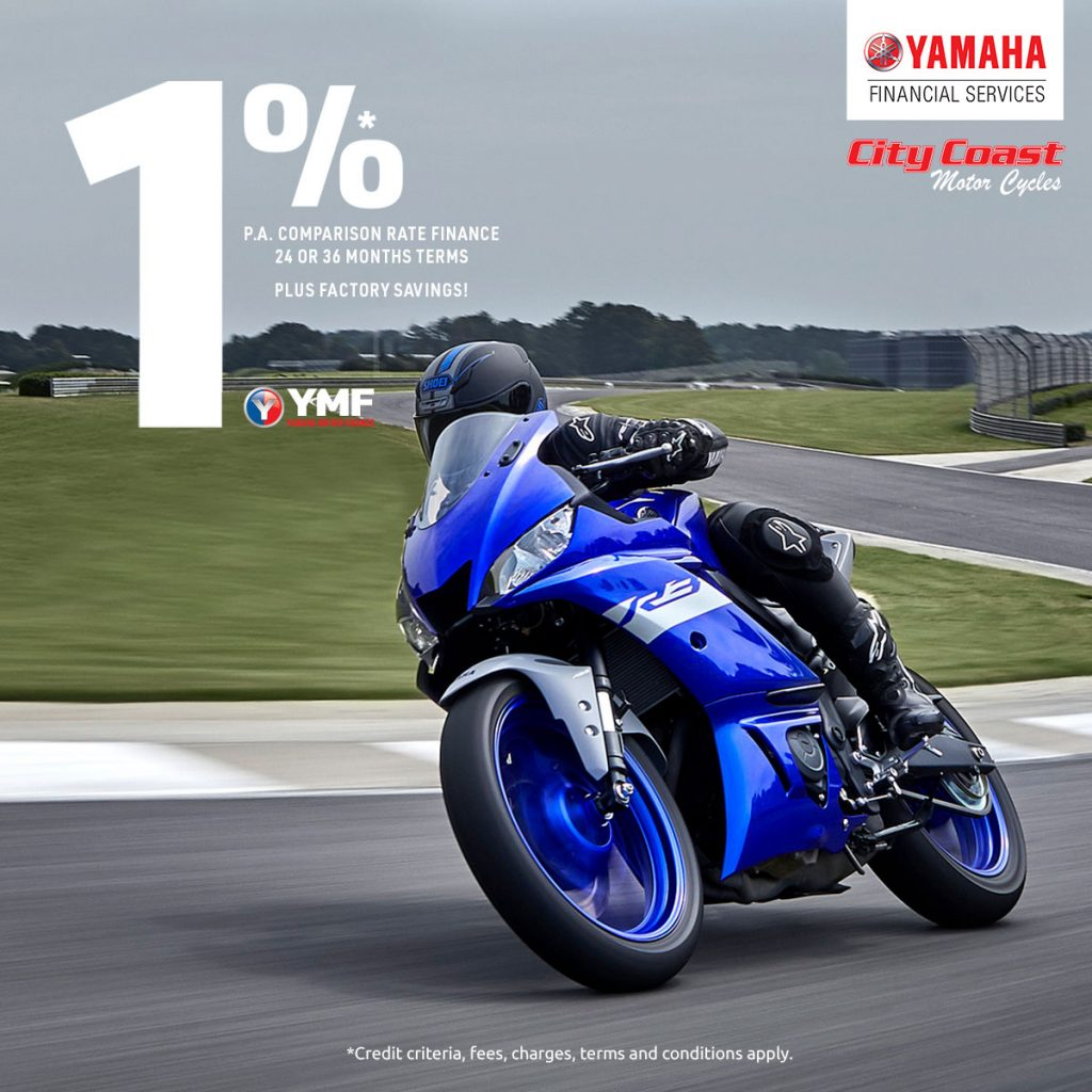 YZF-R3 1% comparision rate YMF
