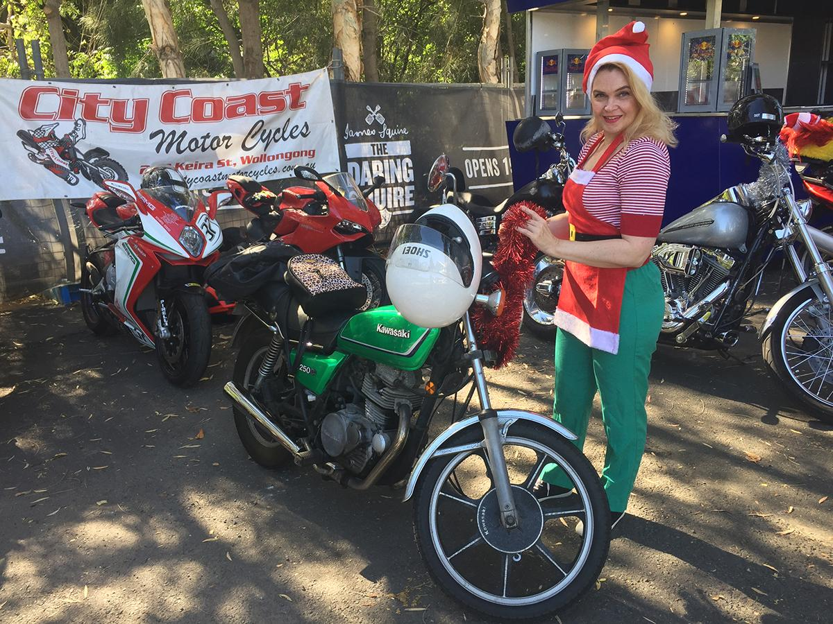 City Coast Motorcycles & The Litas Wollongong Santa Ride for Charity