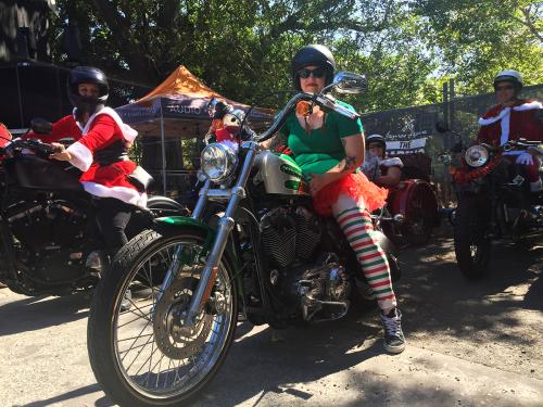 City Coast Motorcycles & The Litas Wollongong Santa Ride for Charity